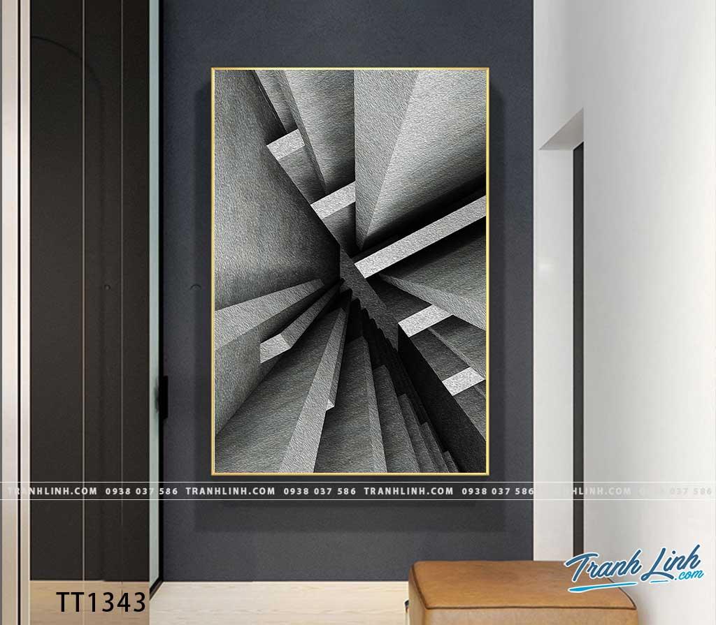Bo tranh Canvas treo tuong trang tri phong khach truu tuong TT1343