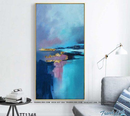 Bo tranh Canvas treo tuong trang tri phong khach truu tuong TT1348