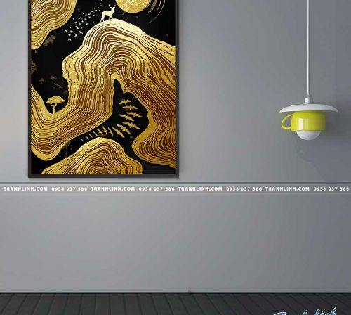 Bo tranh Canvas treo tuong trang tri phong khach truu tuong TT1349