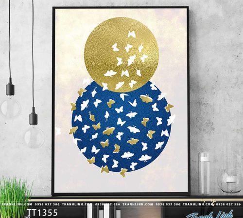 Bo tranh Canvas treo tuong trang tri phong khach truu tuong TT1355