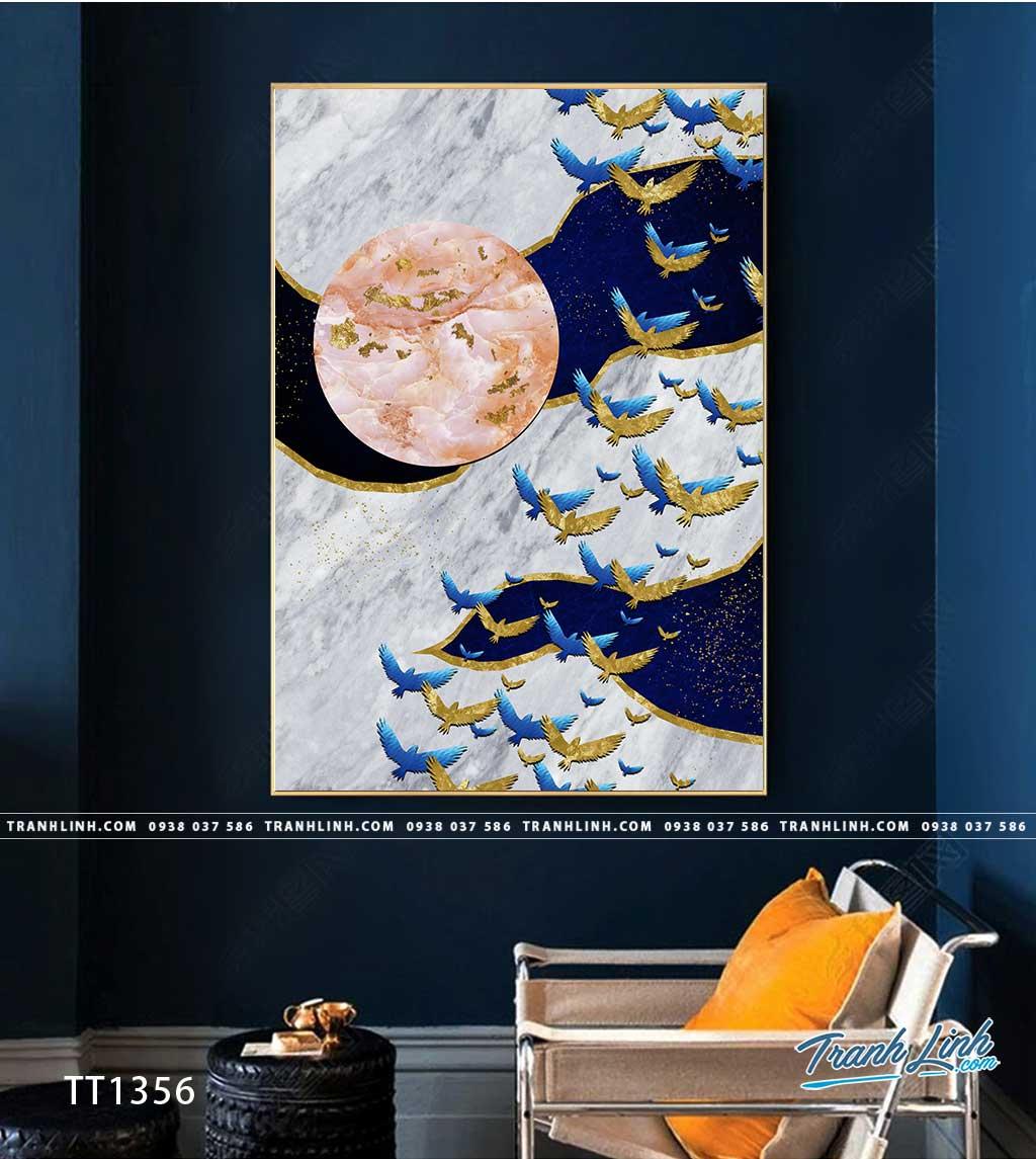 Bo tranh Canvas treo tuong trang tri phong khach truu tuong TT1356