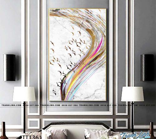 Bo tranh Canvas treo tuong trang tri phong khach truu tuong TT1361