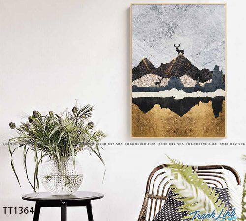 Bo tranh Canvas treo tuong trang tri phong khach truu tuong TT1364