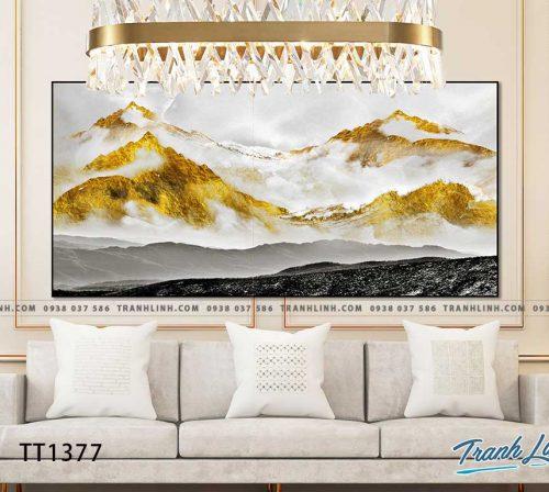 Bo tranh Canvas treo tuong trang tri phong khach truu tuong TT1377