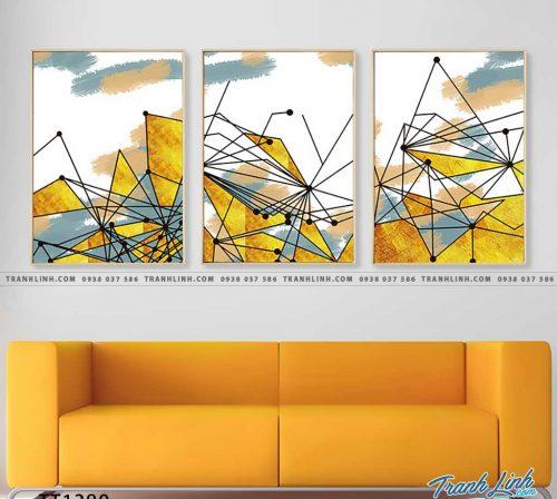 Bo tranh Canvas treo tuong trang tri phong khach truu tuong TT1380