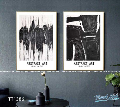 Bo tranh Canvas treo tuong trang tri phong khach truu tuong TT1386
