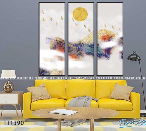 Bo tranh Canvas treo tuong trang tri phong khach truu tuong TT1390