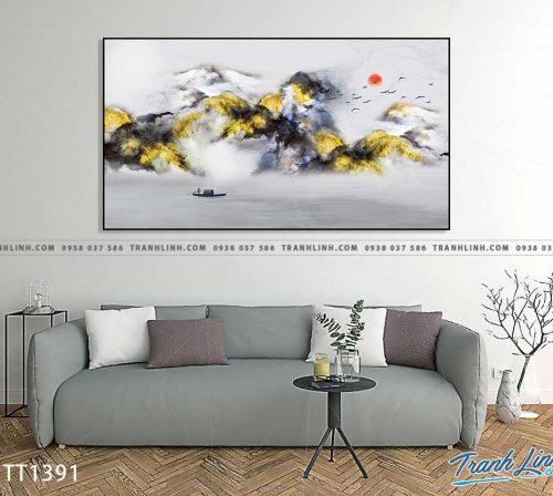 Bo tranh Canvas treo tuong trang tri phong khach truu tuong TT1391