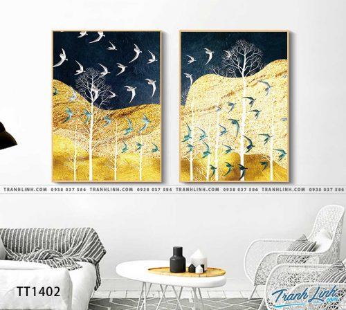 Bo tranh Canvas treo tuong trang tri phong khach truu tuong TT1402