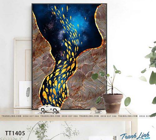 Bo tranh Canvas treo tuong trang tri phong khach truu tuong TT1405