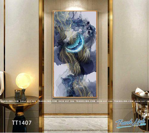 Bo tranh Canvas treo tuong trang tri phong khach truu tuong TT1407
