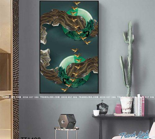 Bo tranh Canvas treo tuong trang tri phong khach truu tuong TT1408