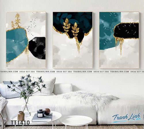 Bo tranh Canvas treo tuong trang tri phong khach truu tuong TT1410