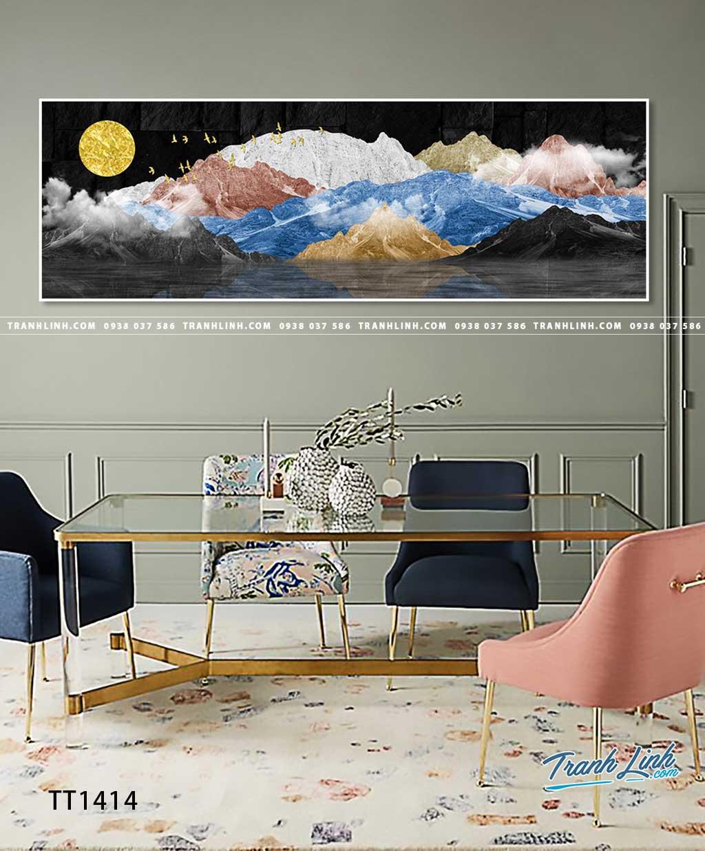 Bo tranh Canvas treo tuong trang tri phong khach truu tuong TT1414