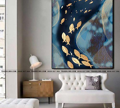 Bo tranh Canvas treo tuong trang tri phong khach truu tuong TT1415