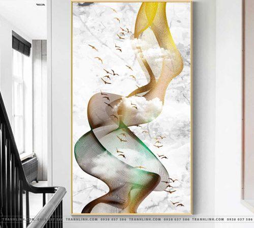 Bo tranh Canvas treo tuong trang tri phong khach truu tuong TT1423