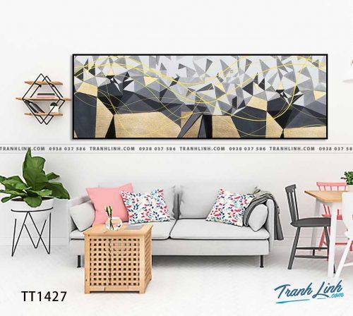 Bo tranh Canvas treo tuong trang tri phong khach truu tuong TT1427