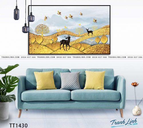 Bo tranh Canvas treo tuong trang tri phong khach truu tuong TT1430