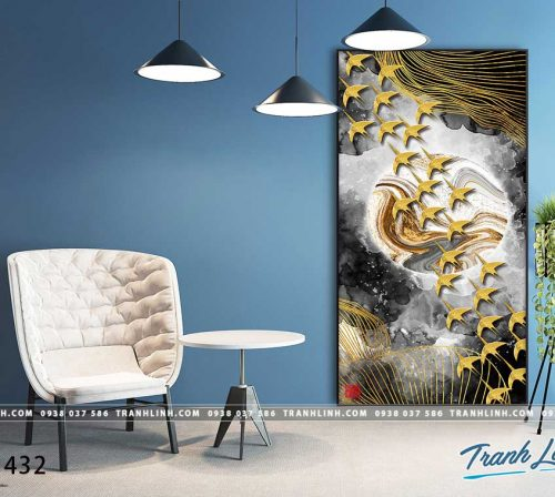 Bo tranh Canvas treo tuong trang tri phong khach truu tuong TT1432