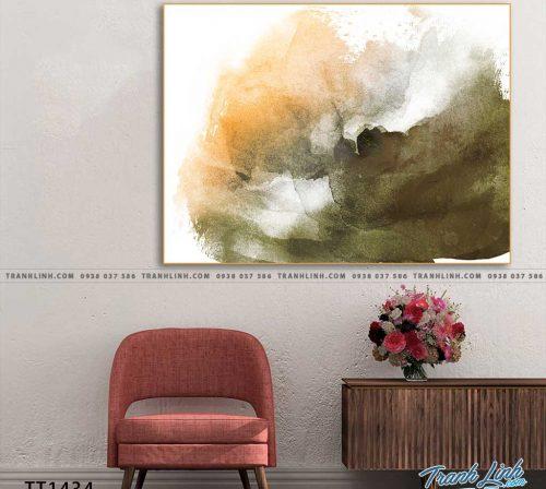 Bo tranh Canvas treo tuong trang tri phong khach truu tuong TT1434