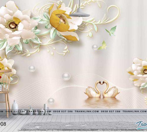 tranh dan tuong hoa dth0008