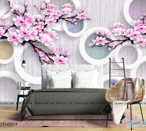 tranh dan tuong hoa dth0017