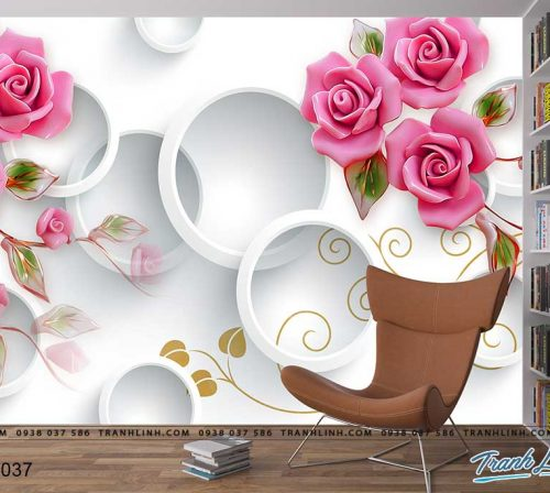 tranh dan tuong hoa dth0037