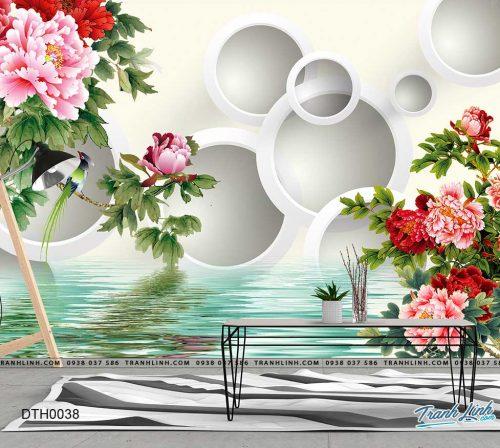 tranh dan tuong hoa dth0038