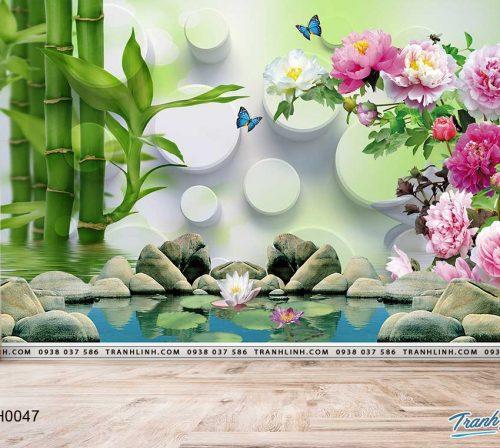 tranh dan tuong hoa dth0047