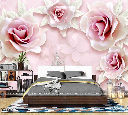 tranh dan tuong hoa dth0092