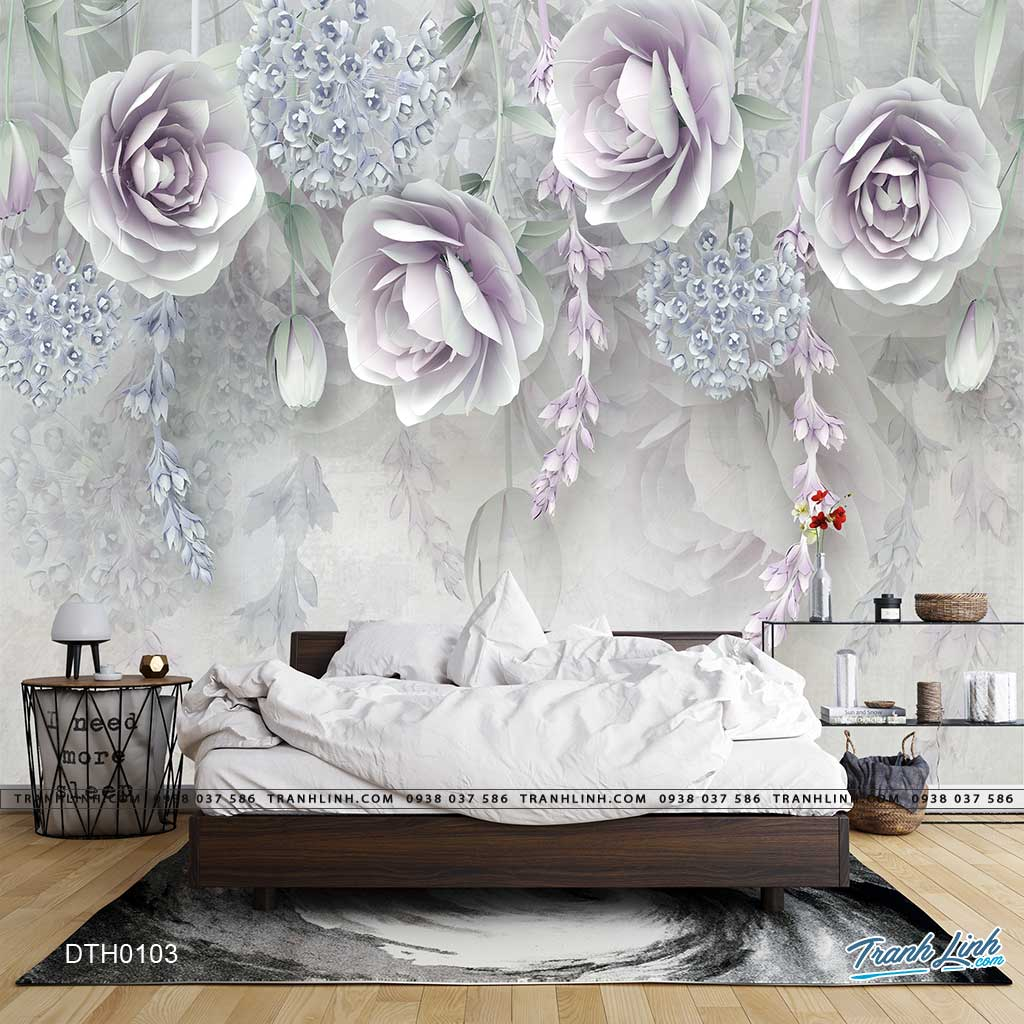 tranh dan tuong hoa dth0103
