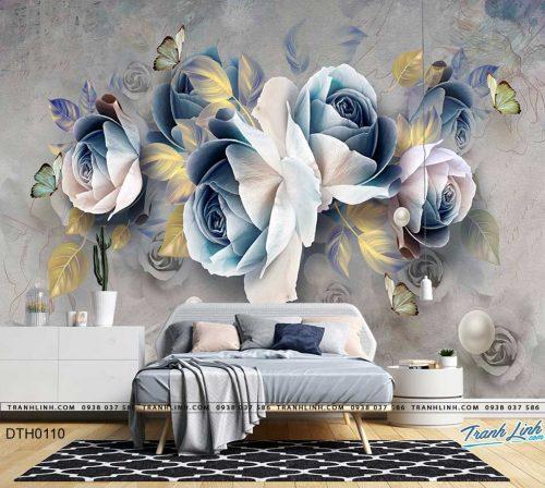 tranh dan tuong hoa dth0110