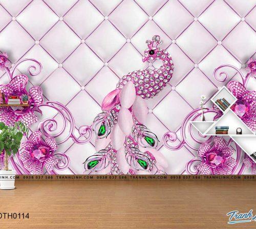 tranh dan tuong hoa dth0114