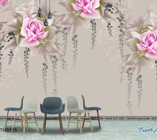 tranh dan tuong hoa dth0115