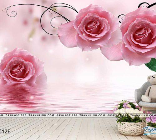 tranh dan tuong hoa dth0126