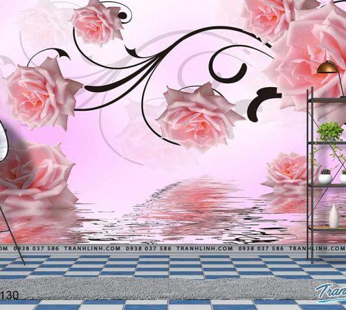 tranh dan tuong hoa dth0130