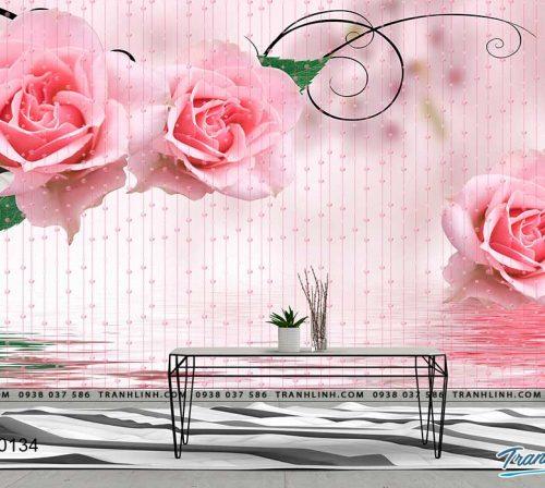 tranh dan tuong hoa dth0134