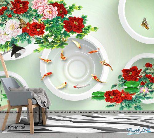 tranh dan tuong hoa dth0135