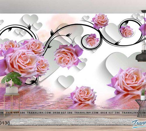 tranh dan tuong hoa dth0138