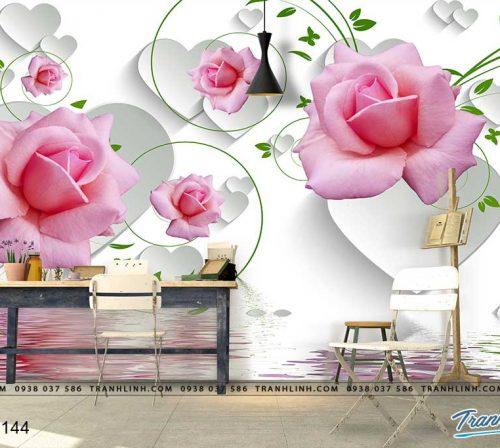 tranh dan tuong hoa dth0144