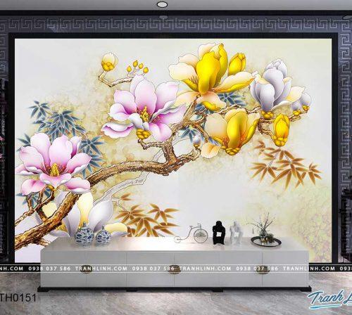 tranh dan tuong hoa dth0151