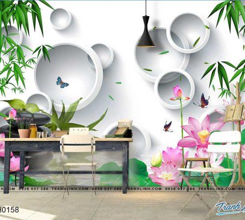 tranh dan tuong hoa dth0158