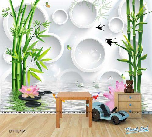 tranh dan tuong hoa dth0159
