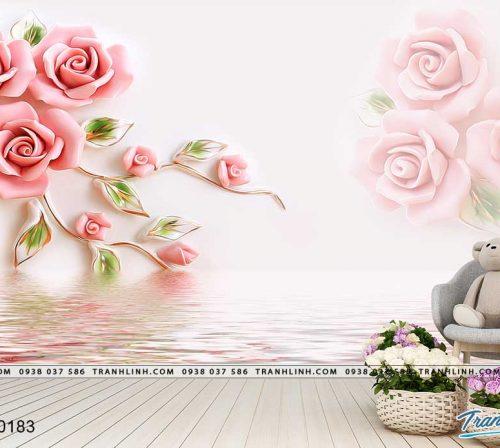 tranh dan tuong hoa dth0183