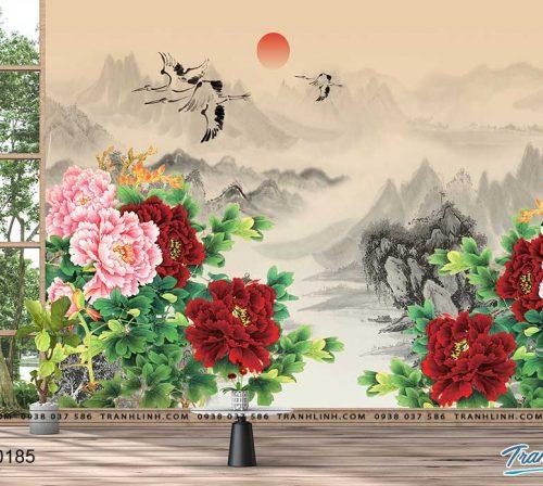tranh dan tuong hoa dth0185