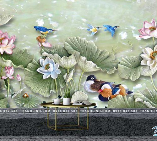 tranh dan tuong hoa dth0187