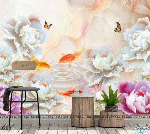 tranh dan tuong hoa dth0203
