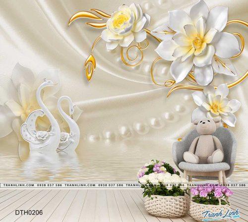tranh dan tuong hoa dth0206