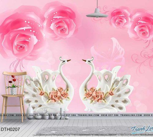 tranh dan tuong hoa dth0207