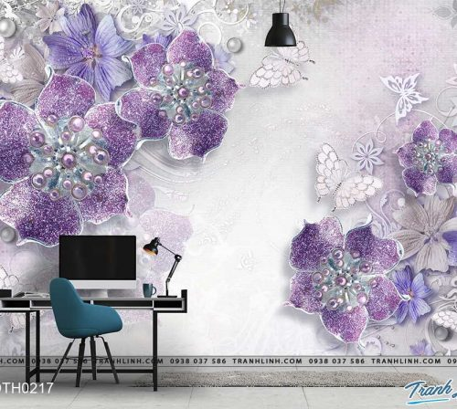 tranh dan tuong hoa dth0217